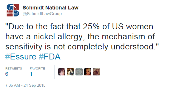 FDA Nickel Twitter Post