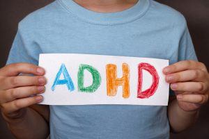ADHD written on paper