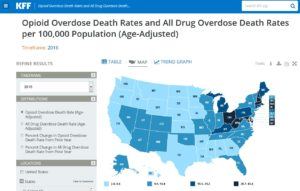 states opioid overdose related deaths