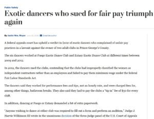 Strip Club Class Action Lawsuit