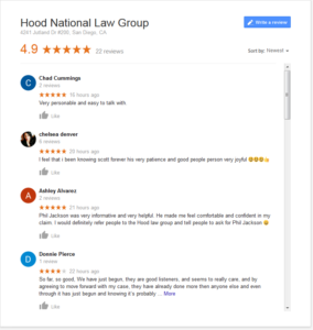 Hood National Law Group Reviews and Ratings