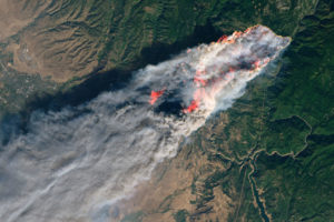 NASA Space Shuttle picture of the Camp Fire in Paradise California.