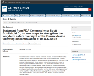 FDA safety study Essure